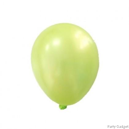 [25pcs] 5 inch Metallic Apple Green Small Latex Balloon