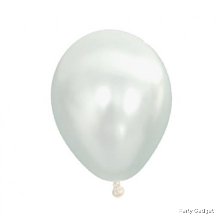 [25pcs] 5 inch Metallic White Small Latex Balloon