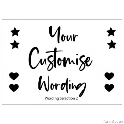 A4 Customized Sticker | Custom Name | Custom Wording | Black Sticker