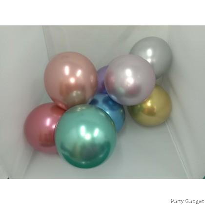[10pcs] 5 inch Chrome Metallic Red Small Latex Balloon