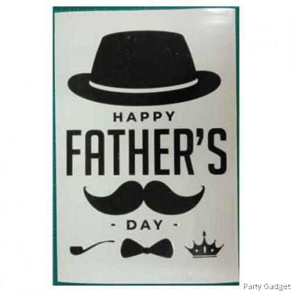 *A4* Balloon Sticker | Happy Father's Day Design 1 | Black Balloon Sticker