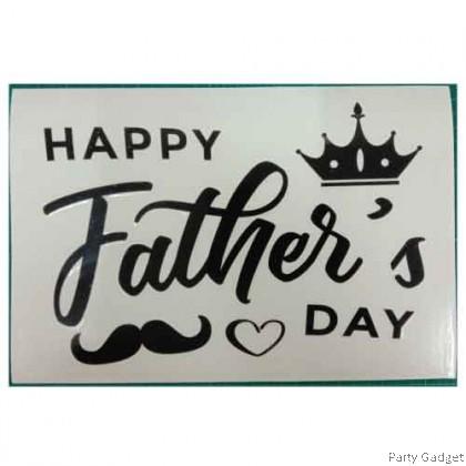 *A4* Balloon Sticker | Happy Father's Day Design 2 | Black Balloon Sticker