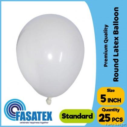 [25pcs] 5 inch Standard White Round Small Latex Balloon