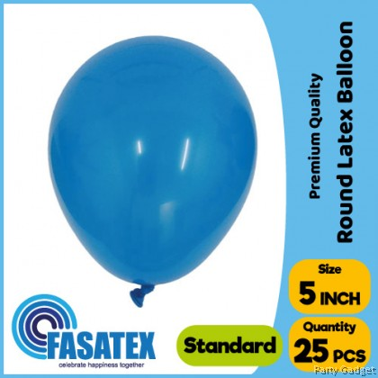 [25pcs] 5 inch Standard Dark Blue Round Small Latex Balloon