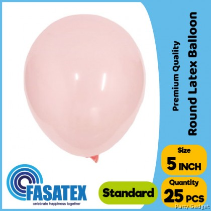 [25pcs] 5 inch Standard Baby Pink Round Small Latex Balloon