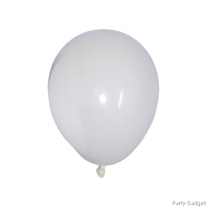 [10pcs] 5 inch Standard White Round Small Latex Balloon