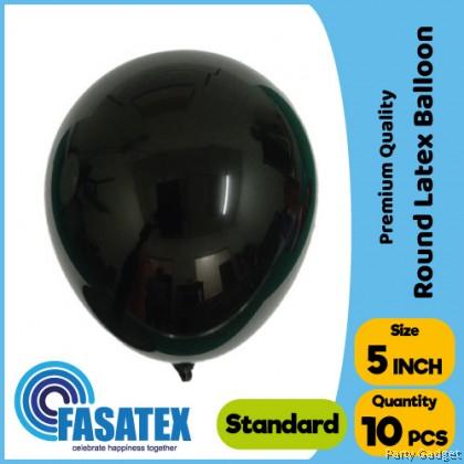 [10pcs] 5 inch Standard Black Round Small Latex Balloon