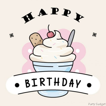 [10pcs] Happy Birthday Wish Card   Greeting Card   Gift Card   Ice Cream Theme