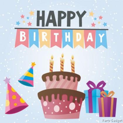 [10pcs] Happy Birthday Wish Card   Greeting Card   Gift Card   Blue Snow Theme