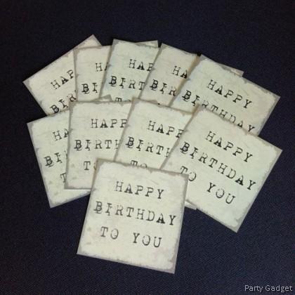 [10pcs] Happy Birthday Wish Card   Greeting Card   Gift Card   Serif Theme