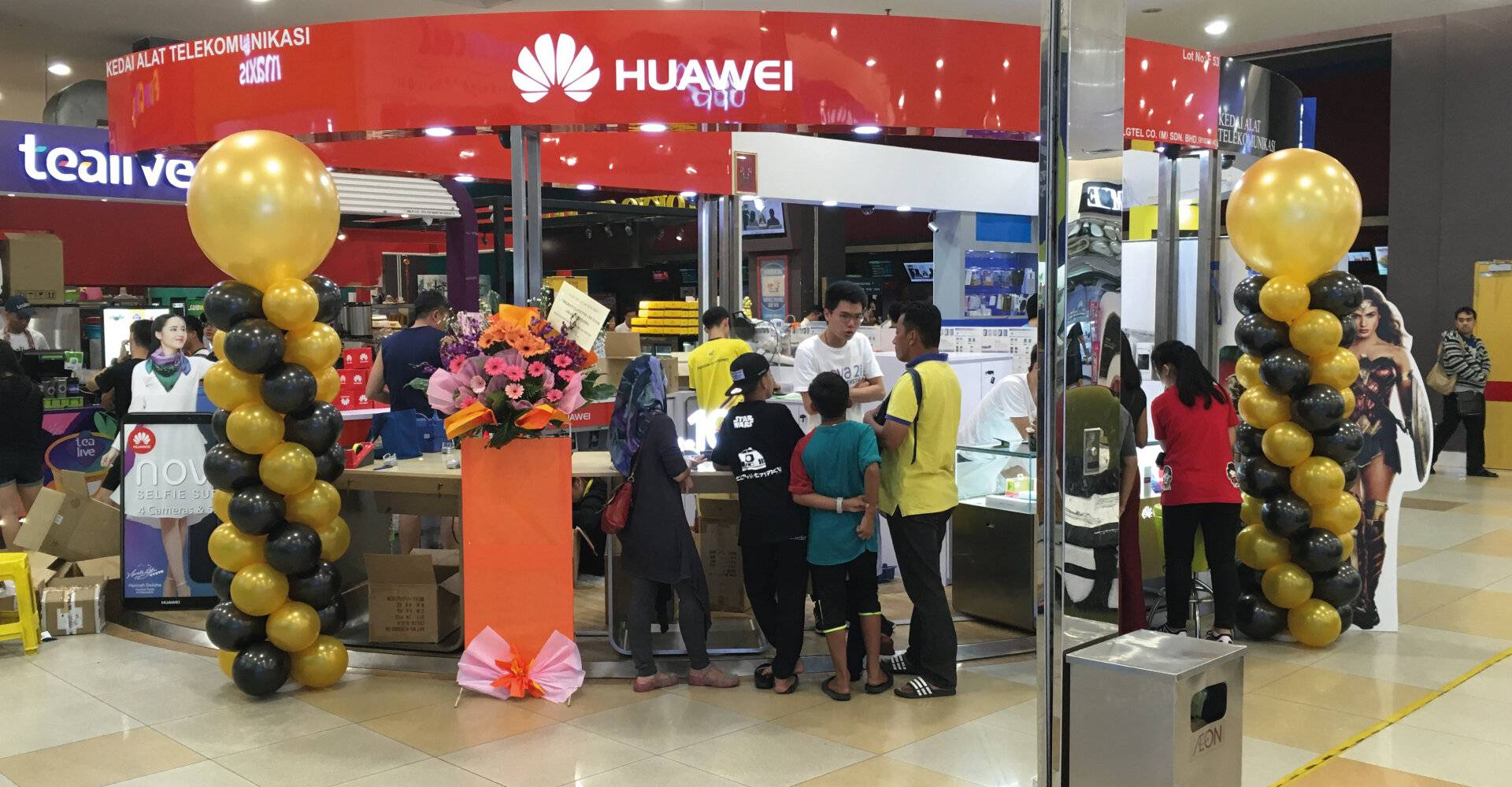 Huawei Shop Decoration